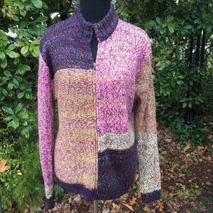 Bechamel pink & Purple color block sweater L
